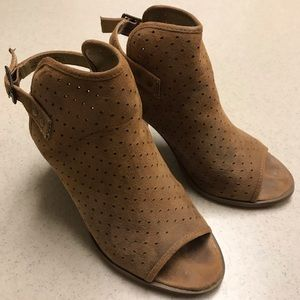 Camel Perforated Booties